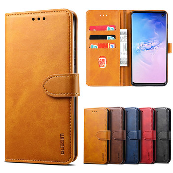 Leather Case For Samsung Galaxy S10 S9 S8 Plus S10E Wallet Flip Phone Cases For Samsung Note 10 Plus Note 9 8 Purse Card Cover