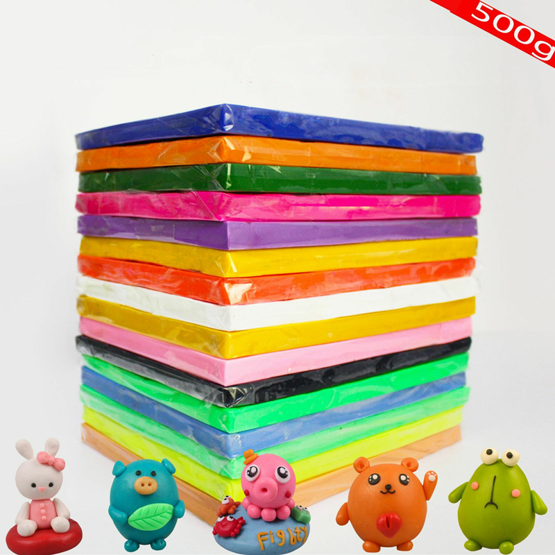 500g 24 Color Light Soft Clay DIY Toys Children Educational Air Dry Polymer Plasticine Safe Colorful Light Clay Toy Gift To Kids