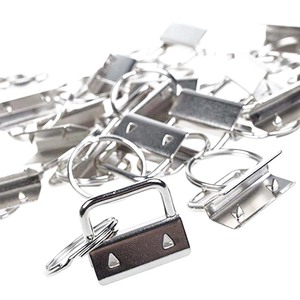 Image 4 - 60 sztuk klucz pierścień sprzętu brelok bransoletka elementy konstrukcyjne z smycz pierścień, brelok do kluczy sprzętu i podział pierścień dodatki