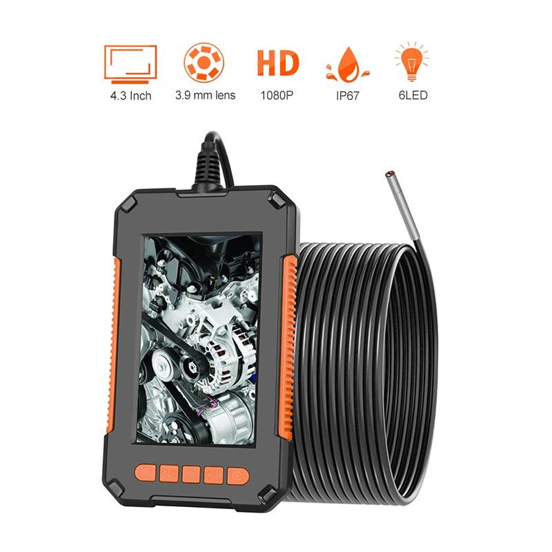 3.9mm câmera de inspeção 1080p hd 4.3