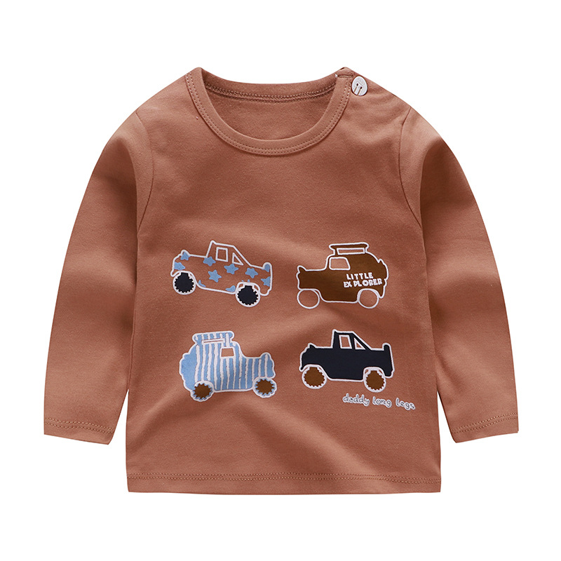 Children Clothing Boy T Shirt Autumn New Cartoon Long Sleeve Tees Printed T-shirts Kids Tops Baby Brand Vestidos Fall Tops