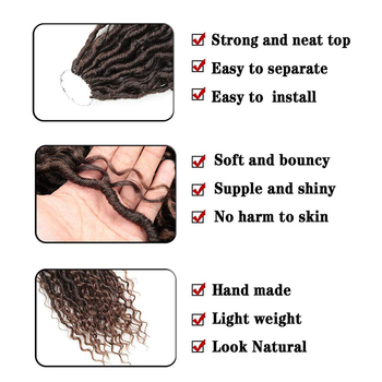 Synthetic Crochet Braids Hair Passion Twist River Goddess Braiding Hair Extension Ombre Brown Faux Locs With Curly Hair X-TRESS 3