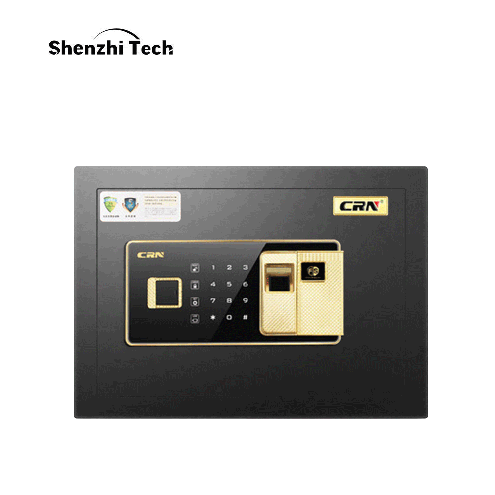 Fingerprint Safe Box Electronic Password Safe Deposit Box 25 CM All Steel For Home Office
