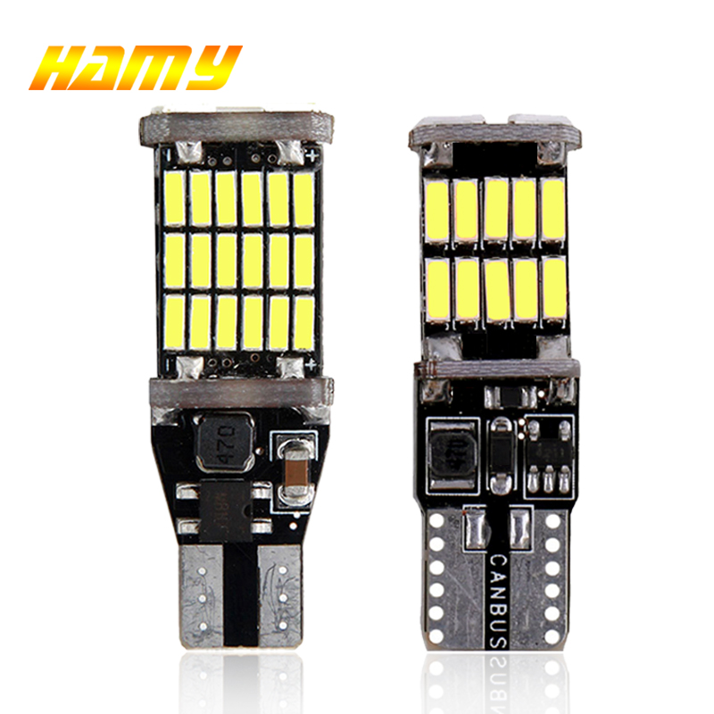 1x Car LED Turn Signal Light T10 W5W 194 T15 W16W LED Bulb Canbus No Error 4014 SMD High Power Auto Wedge Side Reverse Tail Lamp