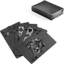 Wasserdichte Kunststoff PVC Spielkarten Sets Goldene Magie Tricks Poker Karten Sets Kreative Box-verpackt 54 blätter/set