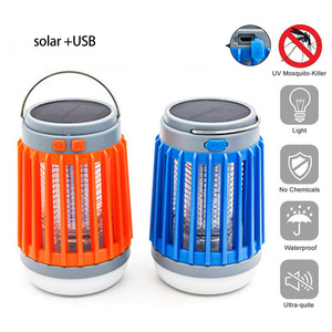 Image 1 - 2 in1 LED USB Solar power Mosquito Killer Lamp protable Lantern Outdoor Repellent light Insect Bug mosquito Trap moskito camping