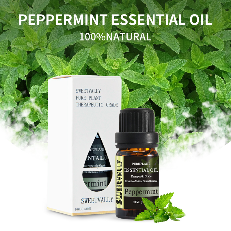 10ml Peppermint Essential Oil With Aromatic Aromatherapy Oil Household Cleaning Home Help Sleep Air Care Essential Oils