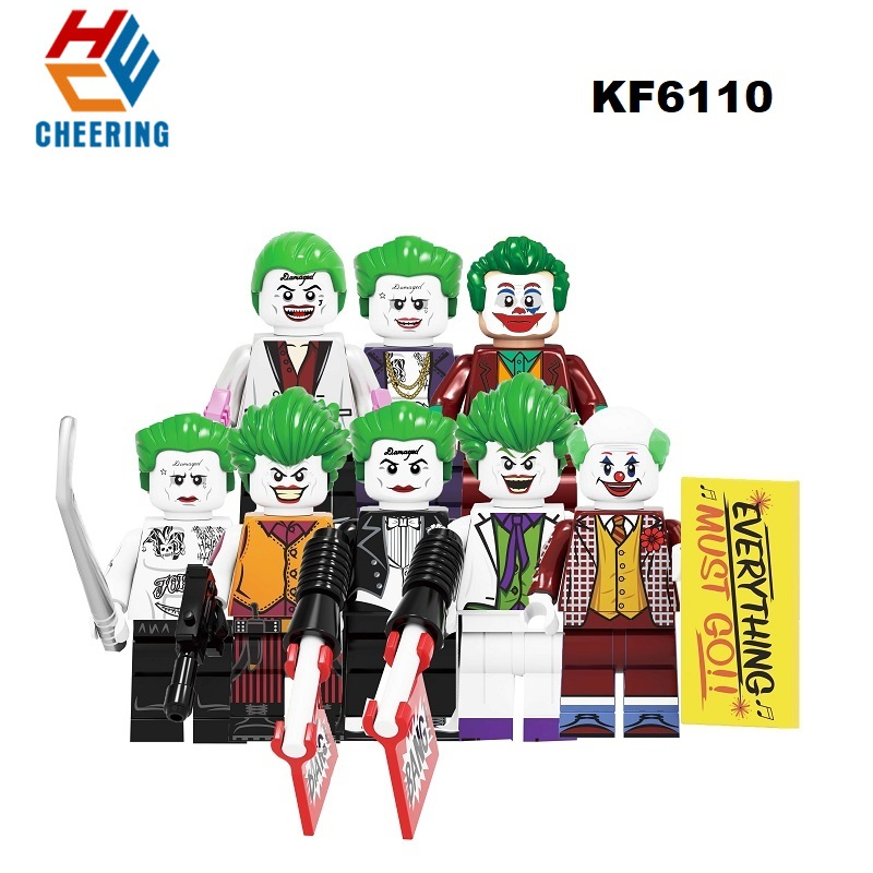 Building Blocks Super Heroes The Clown Pennywise Redux Joker With Red Balloon Freakazoid The Joker Figures Toys For Kid KF6110