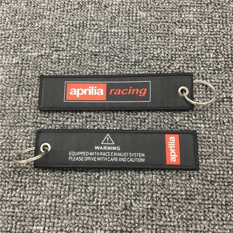 New Motorcycle Embroidery Strap Key Ring Keyring for Aprilia Racing RSV Tuono Motocross Key Chain Keychain Black