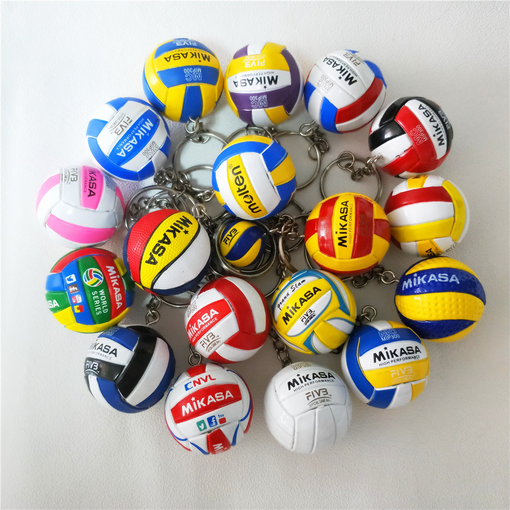New Fashion Volleyball Keychain Sport Key Chain Car Bag Ball Volleyball Key Ring Holder Volleyball Men Gifts For Players Keyring
