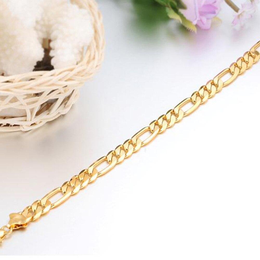 FATE-LOVE-brand-Punk-Style-Figaro-Bracelet-Bangles-for-Men-Boy-metal-Copper-plating-gold-No (4)
