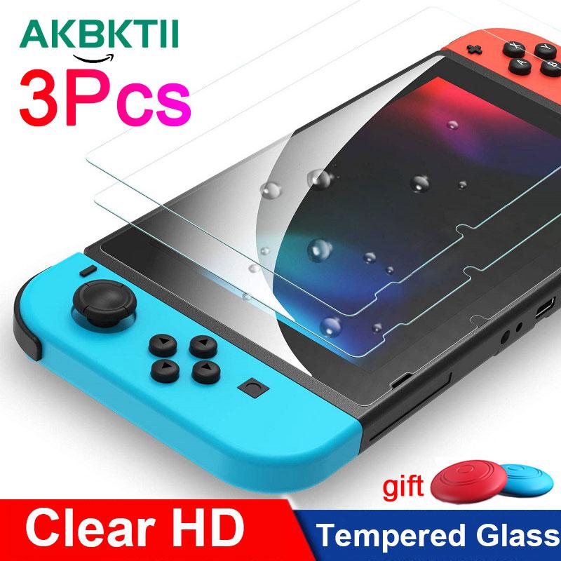 AKBKTII 3 шт. Закаленное стекло Защитная пленка для экрана для Nintendo Switch NS защита для экрана для Nintendo Switch Lite аксессуары