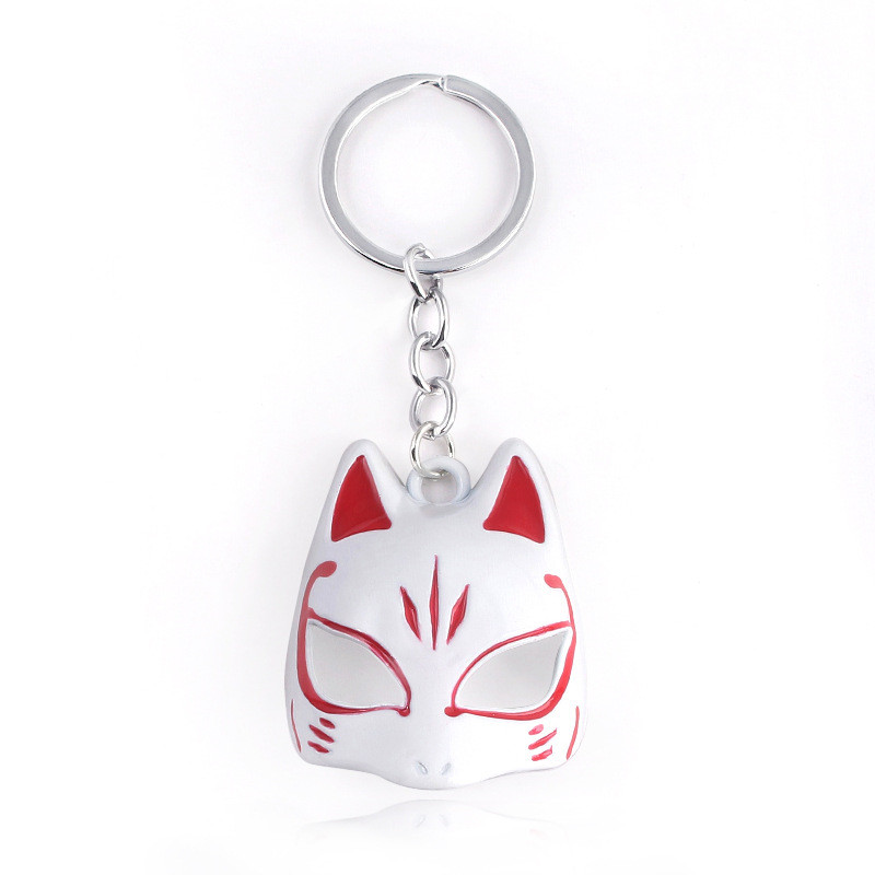New Style Game Persona 5 Keychain Yusuke Kitagawa Fox Mask Pendant Key Chain for Women Men Cosplay Jewelry Gift T101 image