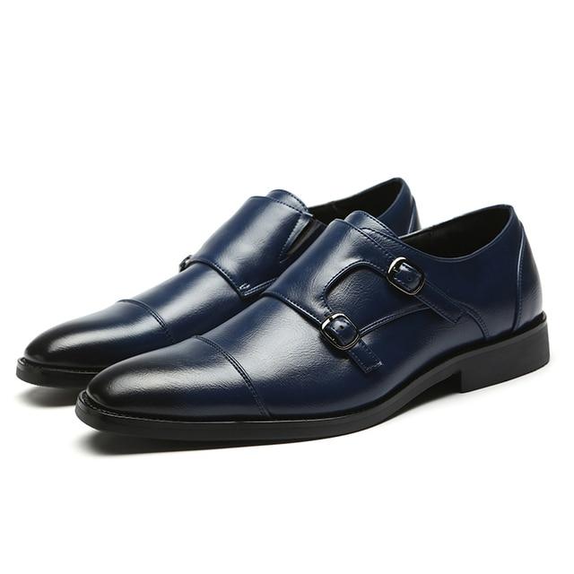 Фото новинка 2020 мужские офисные туфли деловые классические модные