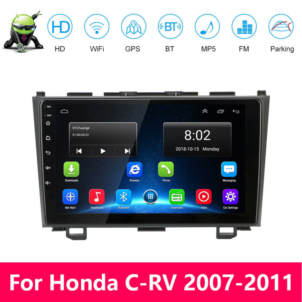 2din Android 9.1 Car Radio Multimedia Video Player di Navigazione GPS Per Honda CRV CR-V 2006-2012 Car Stereo Audio autoradio DVD