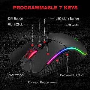 Image 5 - HAVIT Bàn Phím Cơ 104 Phím Xanh Dương Công Tắc Bàn Phím RGB Ánh Sáng LED USB Có Dây Cho Hoa Kỳ/Nga/Bàn Phím