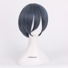 Wig Cosplay-Wigs Phantomhive Black Butler Ciel Kuroshitsuji Synthetic-Hair Wig-Cap Short-Grey
