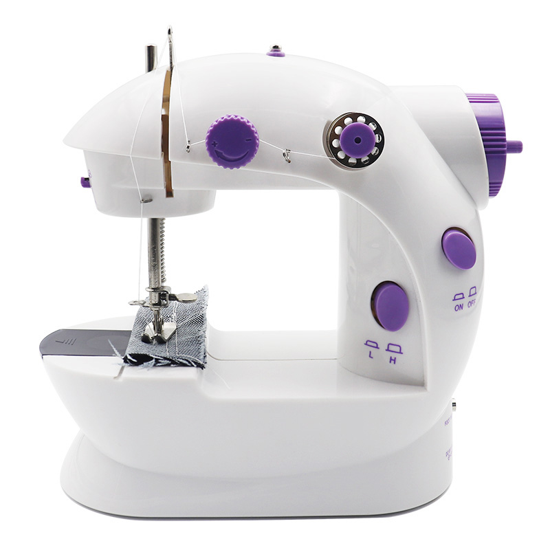 Mini Sewing Machine Portable Handheld Sewing Machine for Beginners 12 Stitches Small Household Sewing Machine Electric Overlock Sewing Machines