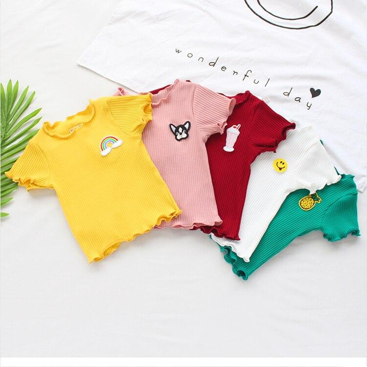 VIDMID Summer baby girls short sleeve T-shirt boys baby cotton T-shirt short sleeve toddles children's casual tops tees P2050 3