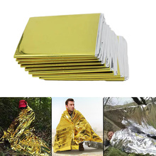 Outdoor Low Temperature Rescue First Aid Kit Insulation Blanket Campsite Keeping Foil Polyester Film Lifesaving Warm Insulation