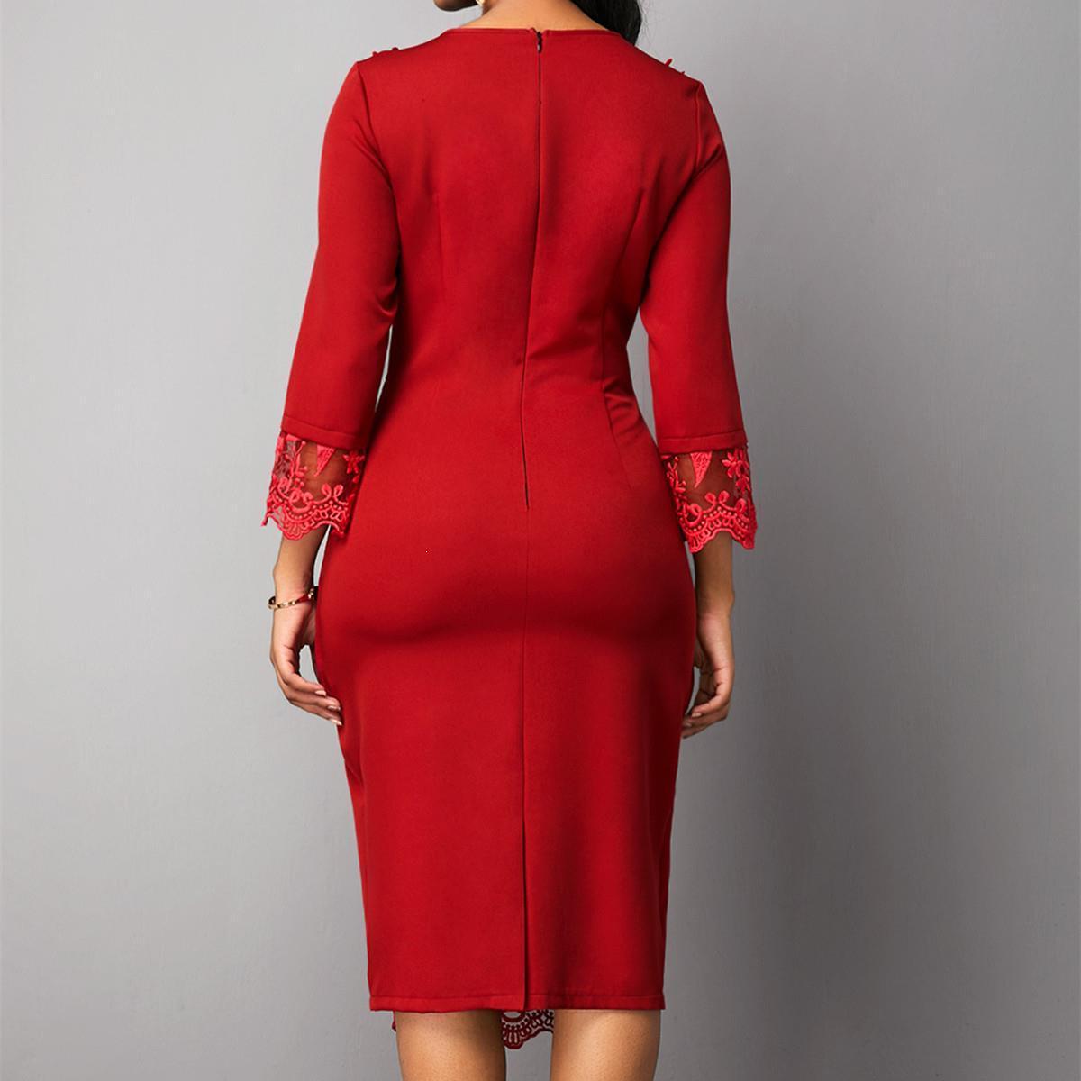 Superbe robe grande taille avec dentelles jusqu'au 5XL