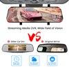 E-ACE Car Mirror Dvr 1080P FHD Dash Cam Dual Lens Video Recorder Night Vision Car Camera Registrar Dvrs With Rear View Camera 4