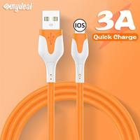 Cable USB de silicona líquida suave para iPhone, Cable de datos de carga rápida para iPhone 12 11 Pro Max X XR XS 8 7 6 6s 5 5s