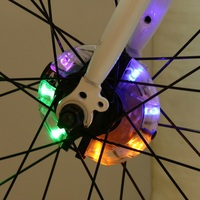 Riding Lamp Cycling Accessories Cycling Wheel Light Front/Rear Hub Decoration Light LED Spoke Warning Lamp Night Safety