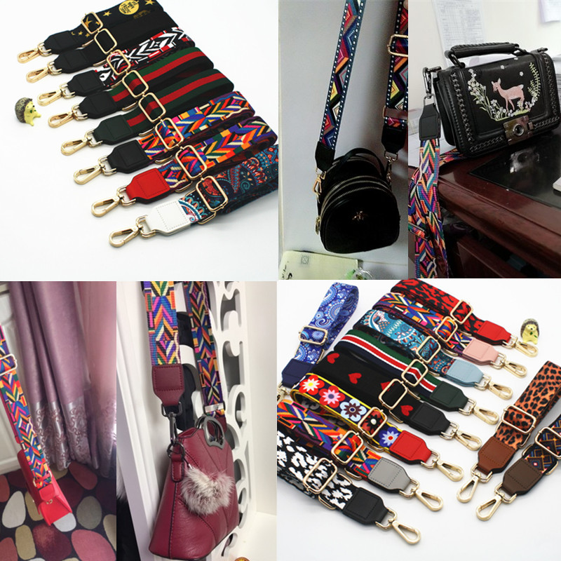 Luxury Diagonal Bag Wide Shoulder Strap Colorful Contrast Color Wild Wide Strap Strap Accessory Shoulder Strap Accessory Obag