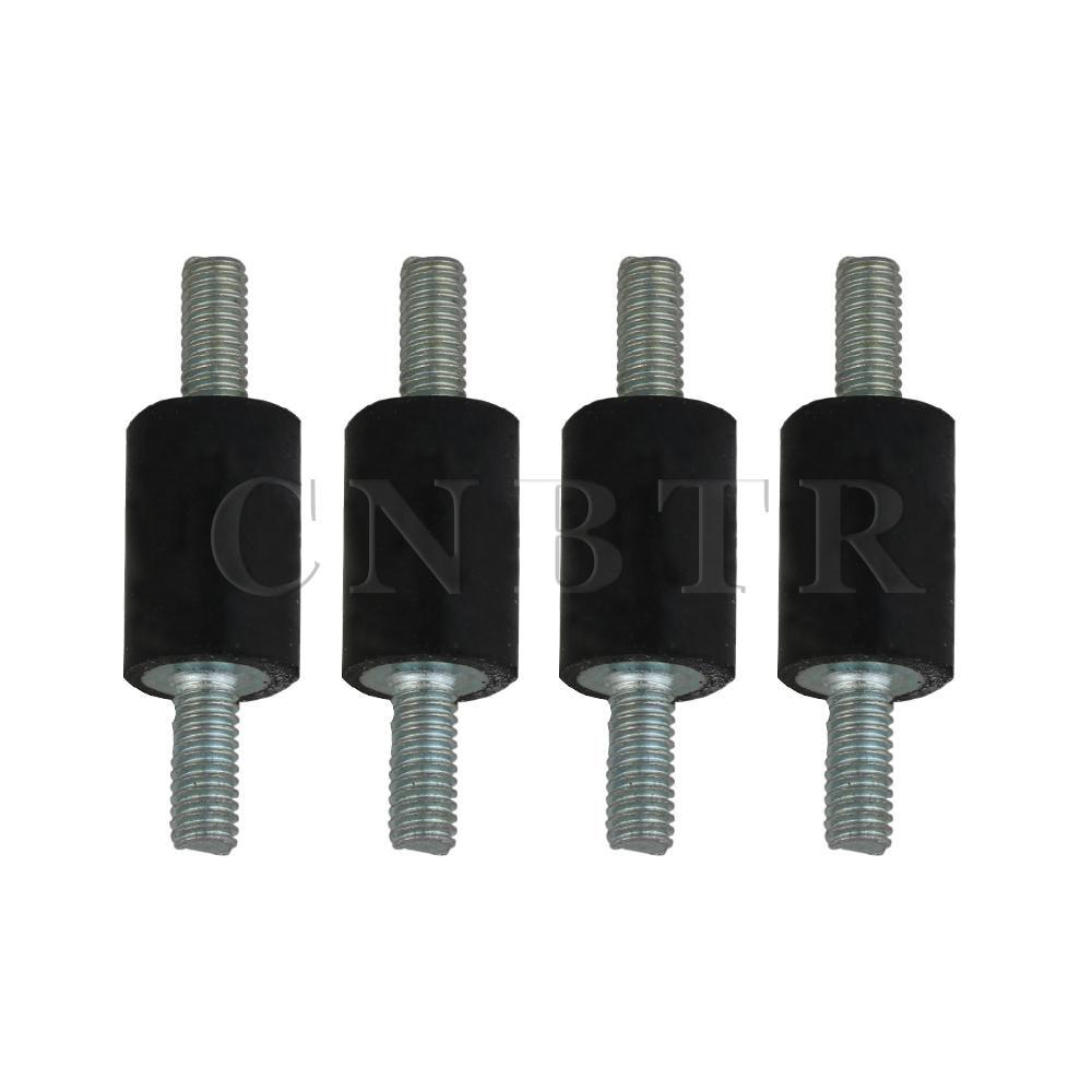 CNBTR 10x15mm Anti Vibration Rubber Mounts Shock Damper W/ M4 Thread Set Of 4