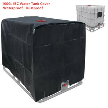 Plandeka do zbiornika przed wodą deszczową 1000 litra IBC folia do pojemnika wodoodporna osłona przeciwpyłowa ochrona przeciwsłoneczna tkanina Oxford 210D tanie i dobre opinie Duszpasterska Tkaniny 1000L Water Tank Cover 120x100x116cm 3 94x3 28x3 81ft Above-Ground Water Tank Cover Black