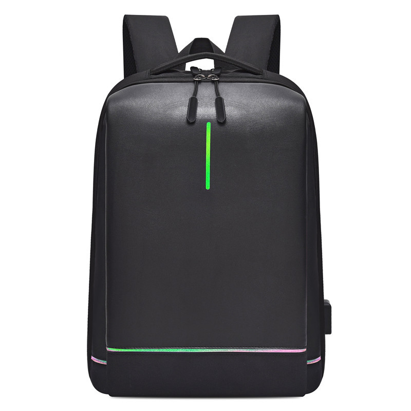 Men's Laptop Backpack Oxford Luminous Waterproof Backpack USB Interface Business Travel Backpack Teenager School Bags Rucksack