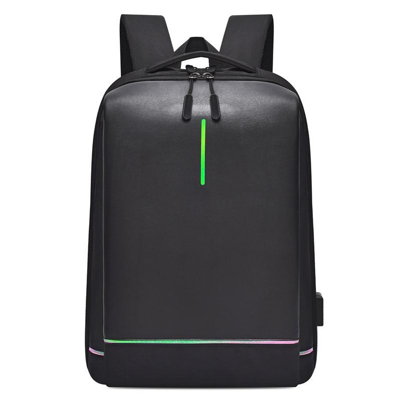 Mens Laptop Backpack Oxford Luminous Waterproof Backpack USB  Interface Business Travel Backpack Teenager School Bags  RucksackBackpacks