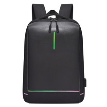 Mens Laptop Backpack Oxford Luminous Waterproof USB Interface Business Travel Teenager School Bags Rucksack