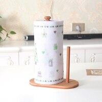 Casa suporte de toalha de papel suporte de toalha de cozinha rack de bambu vertical suporte de toalha de papel para rolo de papel em casa organizador de papel ferramentas|Barras de toalha| |  -