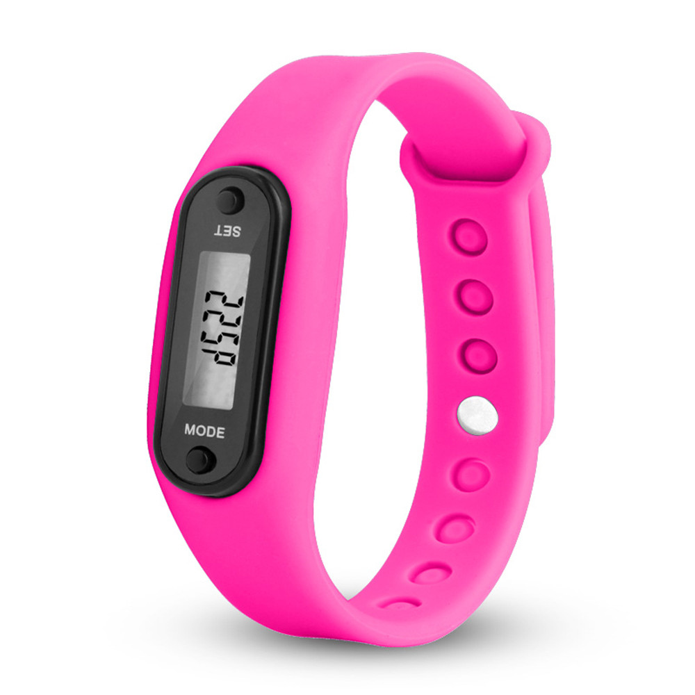 Run Step Watch Bracelet Pedometer Calorie Counter Digital LCD Walking Distance Clock Time Lady Dress Watch Dropshipping