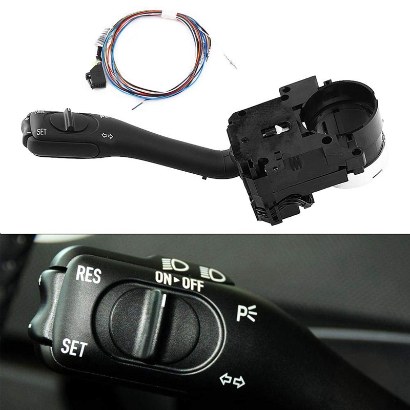 Cruise Control Switch  Cruise Control System Stalk Switch & Harness for Golf/GTI MK4 Jetta Passat B5 18G 953 513 A 18G953513A|Sensors & Switches| |  - title=