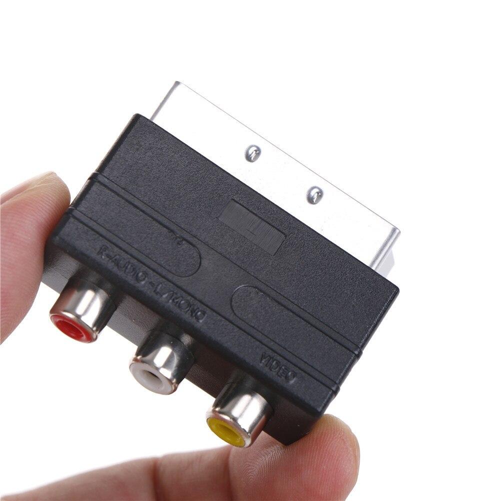 Scart to 3 RCA S Video адаптер Композитный RCA Phono адаптер конвертер AV TV Аудио для видео DVD рекордер ТВ телевидение проектор Кабели VGA      АлиЭкспресс