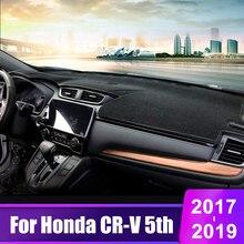 цена на For Honda CRV CR-V 5th 2017 2018 2019 Car Dashboard Cover Mats Avoid Light Pad Instrument Platform Desk Carpets Auto Accessories