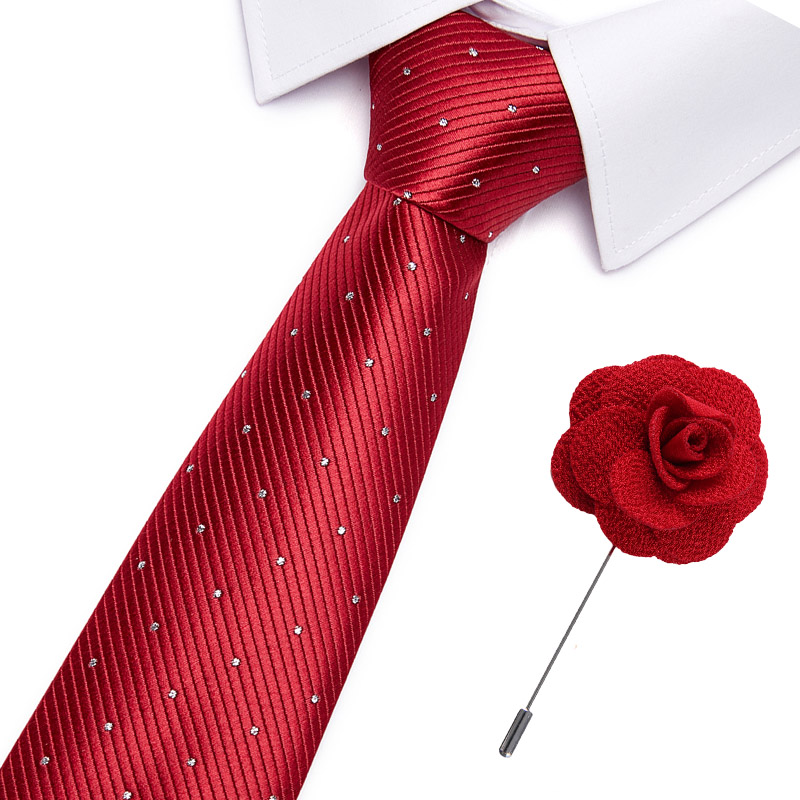 7.5cm Width  Fashion Men Floral Print Tie Suit Skinny Ties Slim Necktie For Wedding Christmas Party
