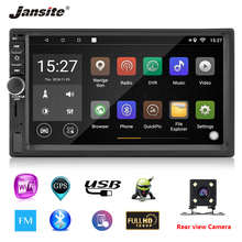 Jansite 2din Car Radio Android 8.1 Universal Gps Wifi Bluetooth Touch Screen Car Audio Stereo FM USB Steering Wheel Controls цена 2017