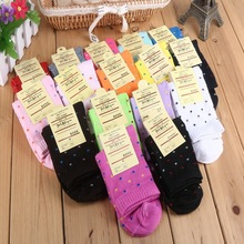 Autumn Winter women autumn winter fashion candy color cotton socks for woman cute solid short pink