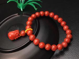 Image 3 - אמיתי טבעי דרום אדום אגת חן צמיד 8mm אישה למתוח קריסטל Pi Xiu חרוזים צמיד צמיד AAAAA