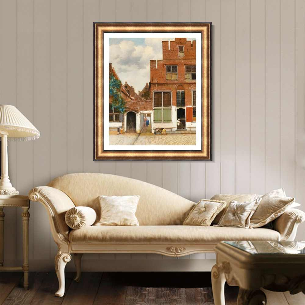 Street in Delft By Johannes Vermeer Wall Art Poster and Print Canvas Painting Decor Picture for Home Decor