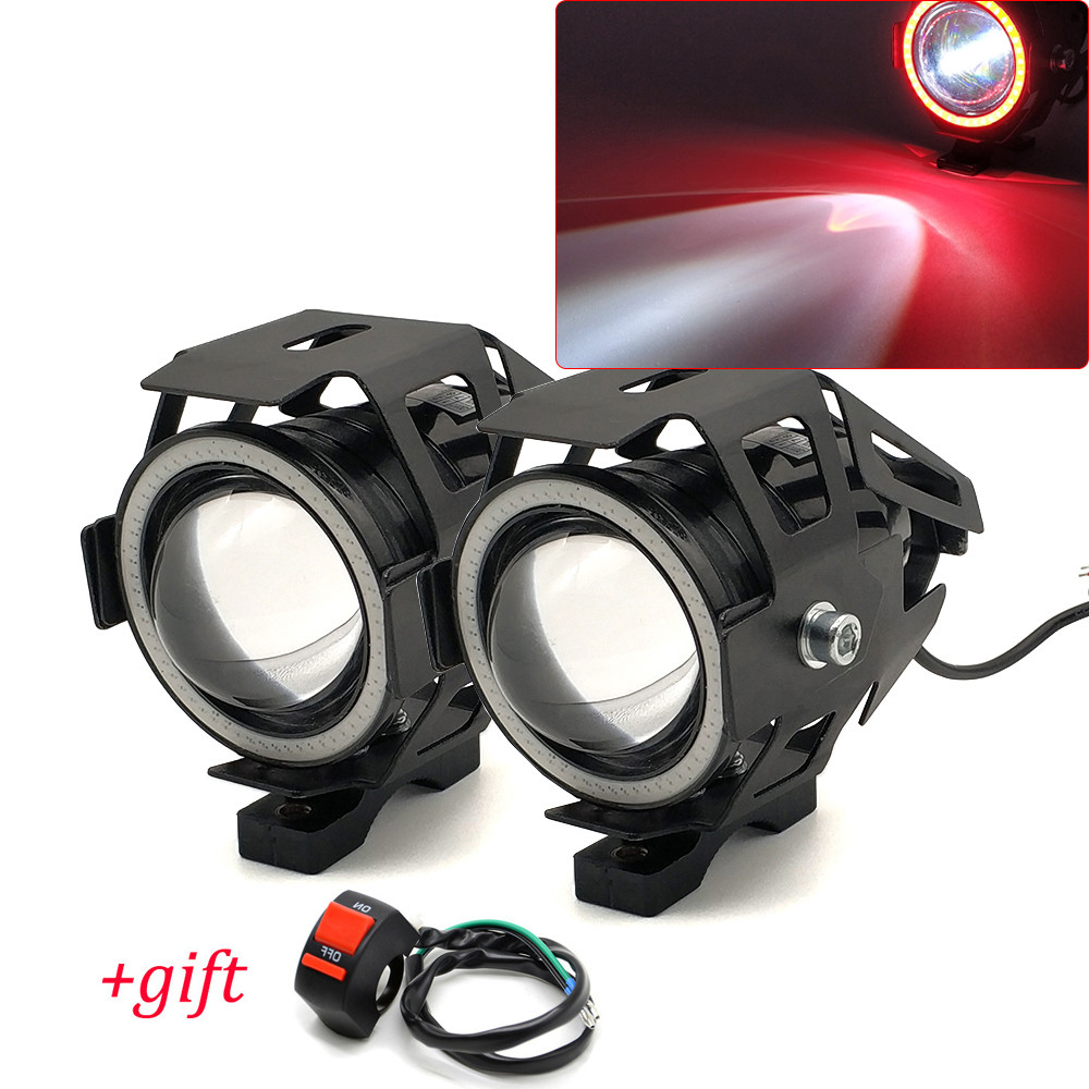 For Suzuki GSXR1100 GSXR400 GSXS1000 VS800 VZ800 Motorcycle Headlight spotlight moto U7 LED Light motorcycle accessories - title=