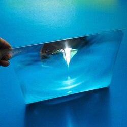 200x170mm optique plastique solaire Fresnel lentille pmma focale bricolage projecteur lentilles avion loupe concentrateur d'énergie solaire