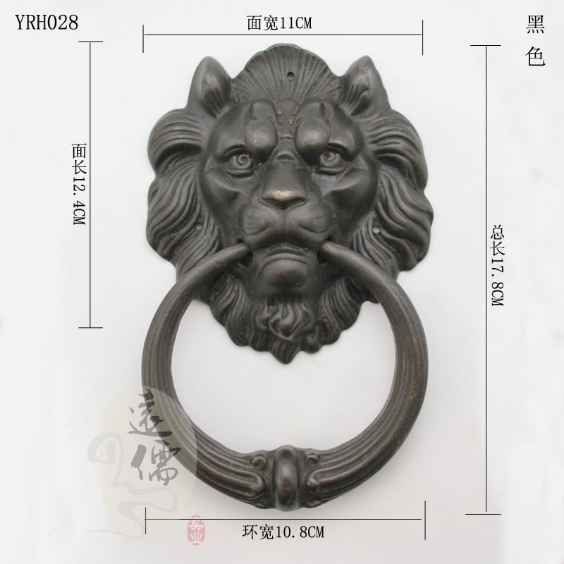 UNILOCKS Large Antique Brass Lion Doorknocker Door Knocker Lionhead Doorknockers Lions Home Decor