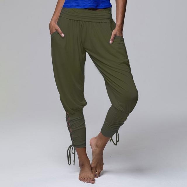 Woman's Hip Hop, Solid Color, High Waist Pants