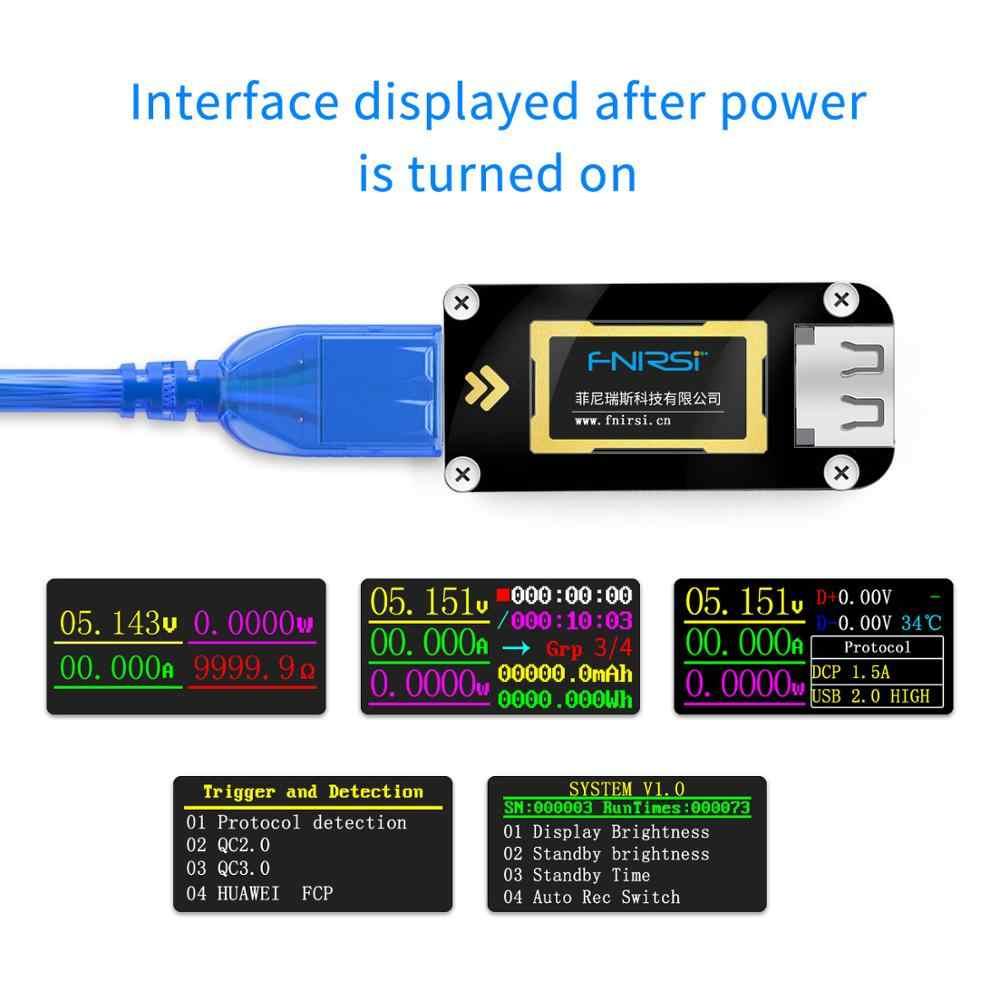 FNB28 Misuratore di Corrente E Tensione Tester USB QC2.0/QC3.0/FCP/SCP/AFC di Ricarica Veloce Protocollo di trigger test di capacità