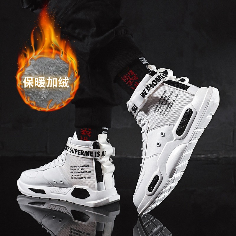 2019 Winter Waterproof High-top Shoes Men Snow Boots With Fur Plush Warm Male Casual Women Ankle Boot Sneakers Unisex
